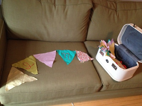 Bunting in progress