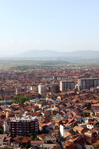 houses landscape cityscape view prizren kosovo fortress kaljaja