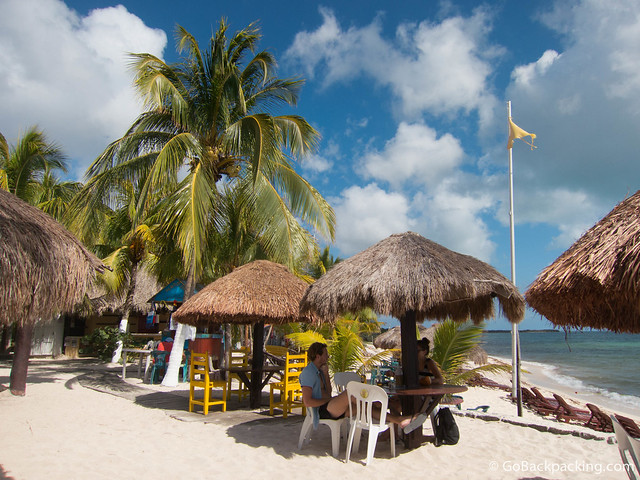Playa Palancar is one of the few public beaches