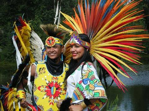 aztec and native american dancers