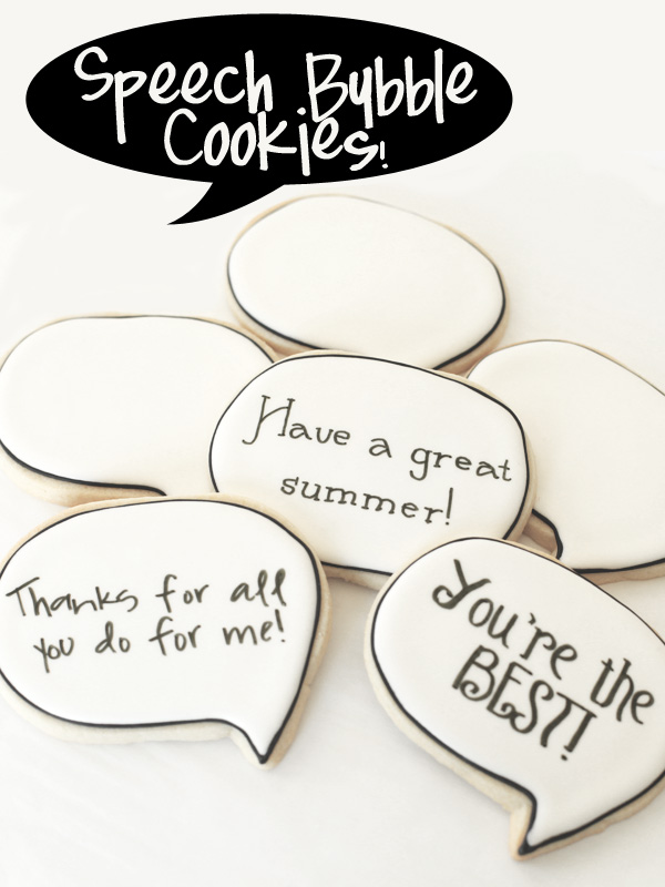speech bubble cookies