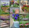 Floral garden collage by Perl Photography