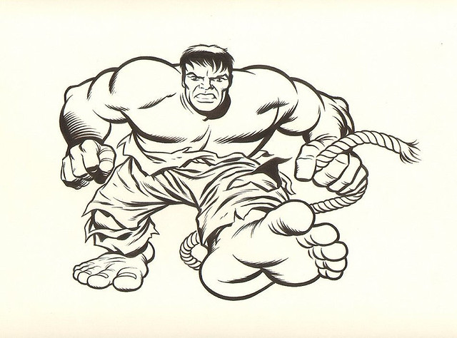 Dave Stevens Incredible Hulk T-Shirt Design Art