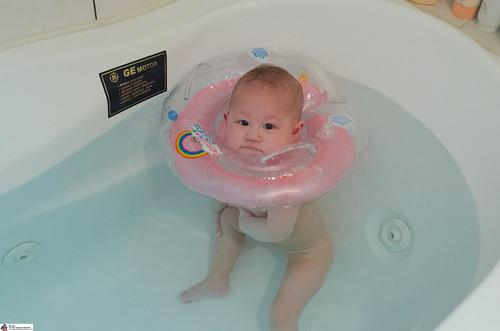 Baby Phoenix Swimming