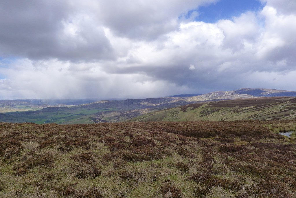 Showers over Glen Esk