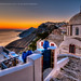 Fira sunset view !!! by george papapostolou
