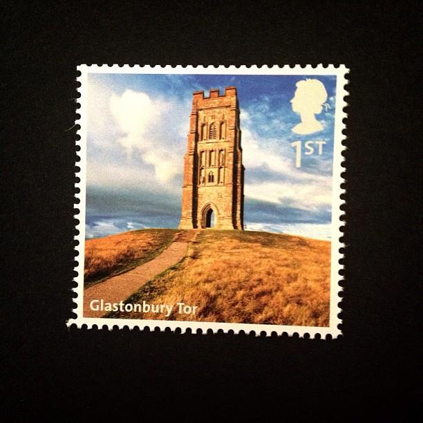 Day 12: From Far Away #glastonburytor #glastonbury #british #uk #postalsociety #postagestamp #psjune