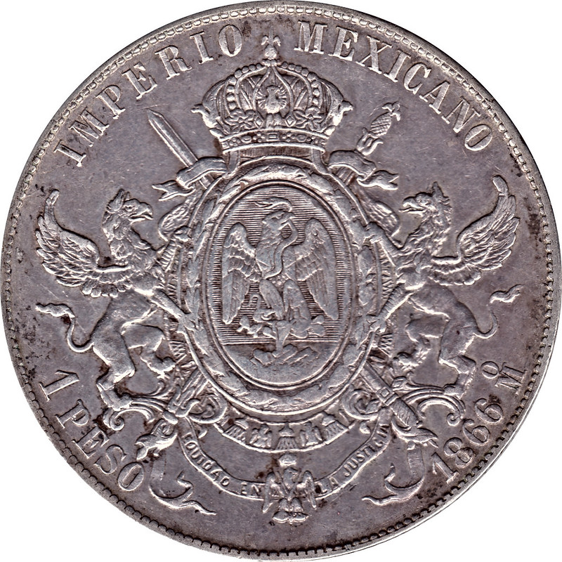 1 Peso. México. 1866 9034123588_b347f51bb1_c