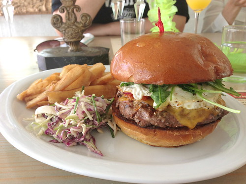 Two-Fisted Burger at Sunny Spot