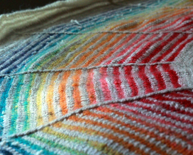 Rainbow Spun DaybreakShawl