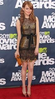 Emma Stone Sheer Dress Celebrity Style Women's Fashion