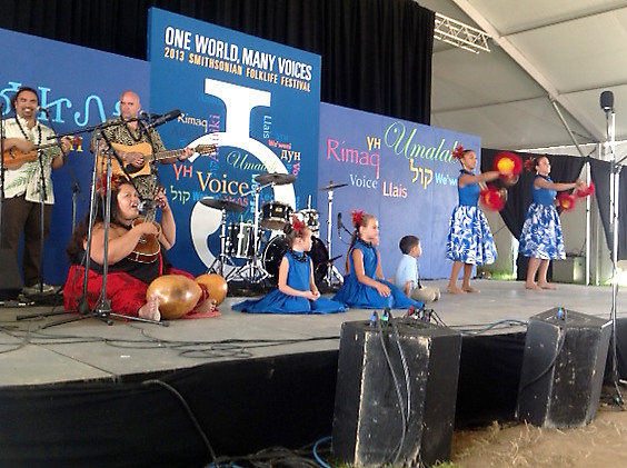 <p>Keiki hula performance at the Smithsonian Folklife Festival on the National Mall.</p>