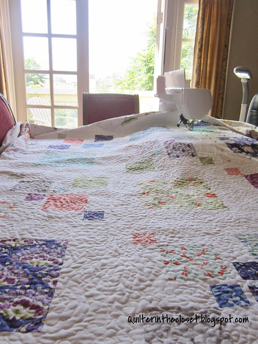 Gigantor quilting in progress