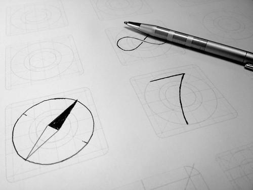 iOS7 icon sketch pad