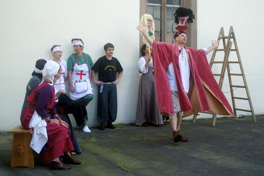 Outdoor church performance in Bretten, Germany