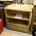 Ash veneer low bookcase