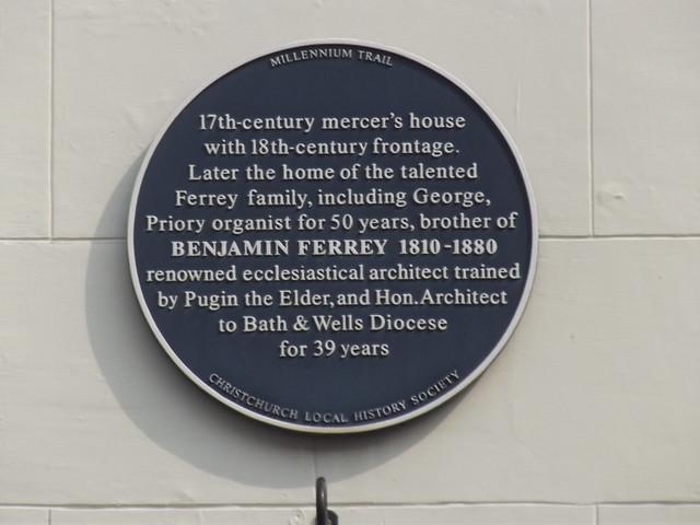 Photo of George Ferrey and Benjamin Ferrey blue plaque