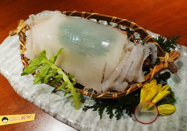 TOFURO - Edo Washoku - squid sashimi
