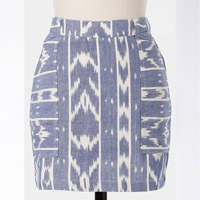 fair trade ikat cotton skirt