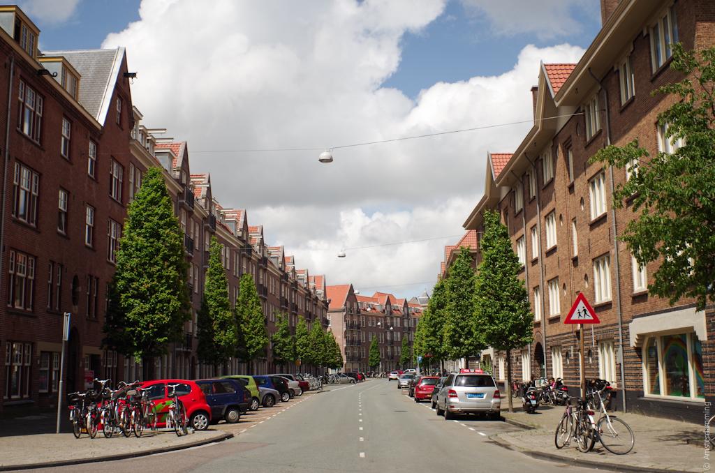 Amsterdam, Street in Sparndammerbuurt
