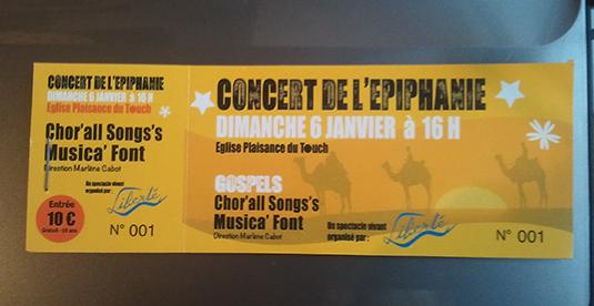 Création de place de concert pour le concert gospel d'épiphanie de Plaisance du Touch.