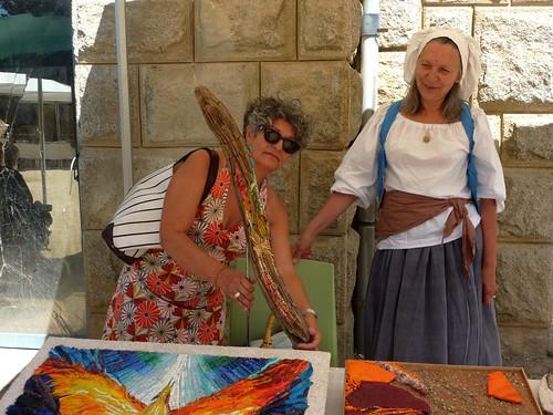 Mosaïques sur bois flotté des stagiaires de Verdiano Marzi