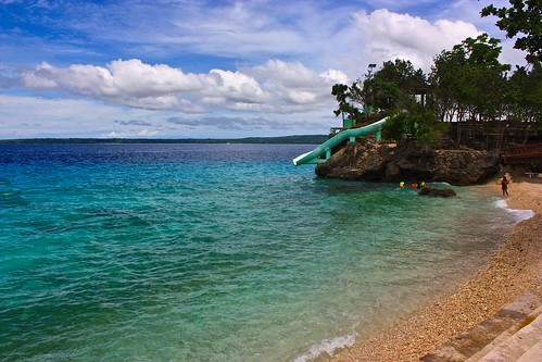 A broken water slide… We know because we tested it. At Salagdoong Beach Resort