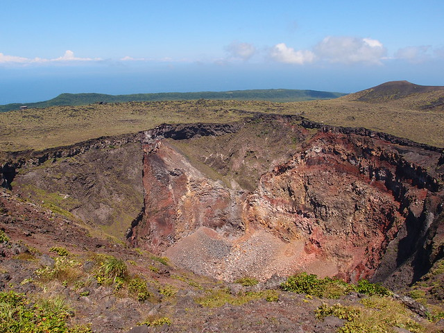 Crater @ Caldera loop trail @ Mount Mihara @ Oshima
