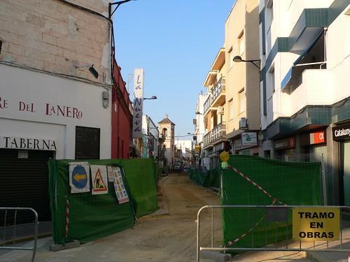 Obras en la calle Romera