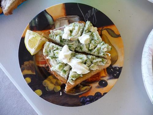 Crab Toast with Lemon Aioli Jenny