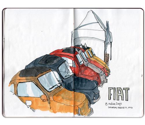 Italian days Fiats by Jennifer Appel