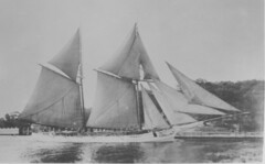 ship of the line(0.0), thames sailing barge(0.0), full-rigged ship(0.0), fluyt(0.0), carrack(0.0), lugger(0.0), galeas(0.0), barquentine(0.0), manila galleon(0.0), caravel(0.0), tall ship(0.0), scow(0.0), sail(1.0), sailboat(1.0), sailing ship(1.0), vehicle(1.0), ship(1.0), windjammer(1.0), mast(1.0), monochrome photography(1.0), sloop-of-war(1.0), watercraft(1.0), black-and-white(1.0), boat(1.0),
