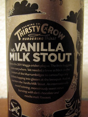 Thirsty Crow Vanilla Milk Stout