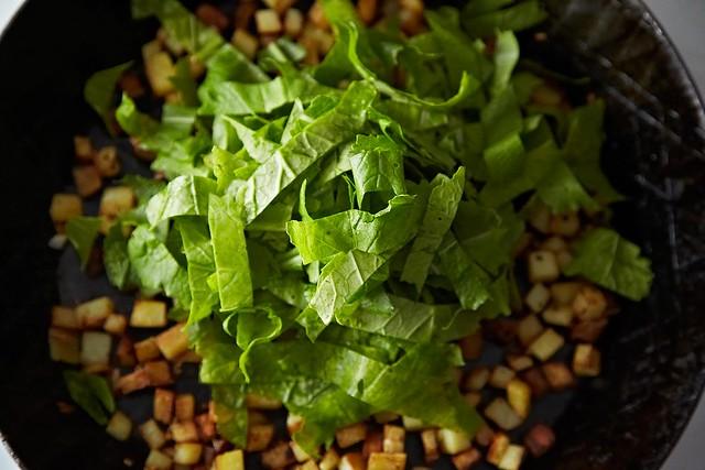 Turnip greens frittata from Food52