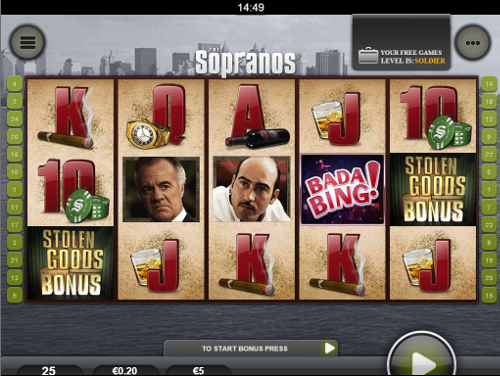 free The Sopranos Mobile bonus feature