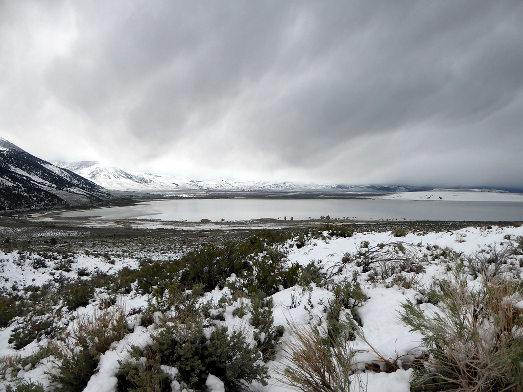 Mono Lake and a storm