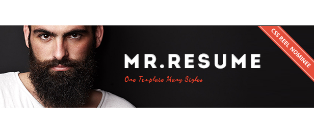 Mr.Resume - One Page Resume/Personal HTML Template