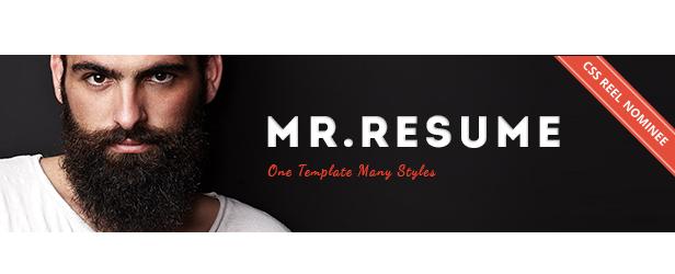 Mr Resume HTML Template