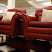 2+1+1 red leatherette sofa set
