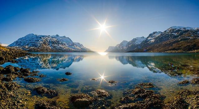 Ersfjordbotn sunny panorama