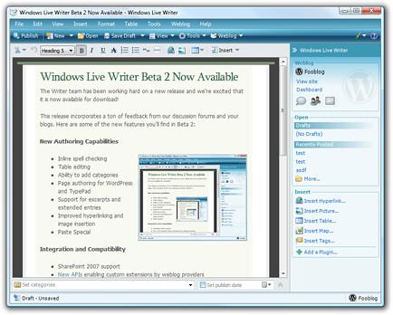 Microsoft Live Writer станет открытым