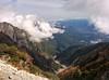 Hida mountains in early autumn 飛騨山脈
