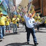 Levy Fidelix candidato a Prefeito de SP divulgando com o povo sua campanha 2016