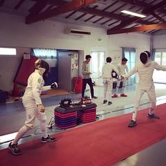 Sunday morning #fencing. #escrime