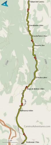 Rabanal-del-Camino-to-Ponferrada-Map-177x500