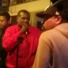 Sugar Bear of E.U. and Da' Butt doing his thing at Proud Mary Restaurant with the Marcus Young Band