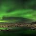 Aurora Borealis above Jökulsárlón by ►►M J Turner Photography ◄◄