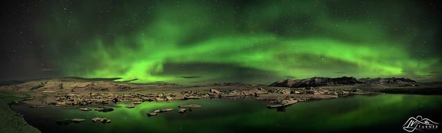 Aurora Borealis above Jökulsárlón