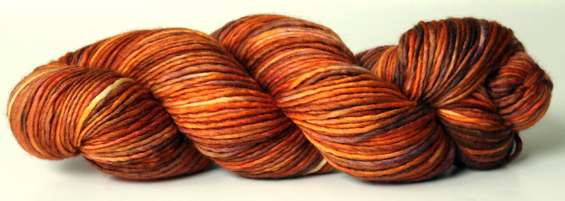 Kettle Dyed 1ply Merino Yarn ~ Orange