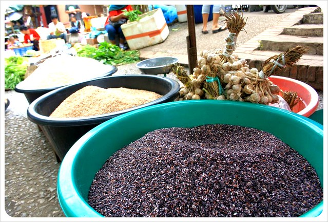 luang prabang morning market rice